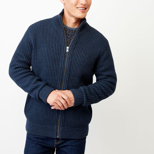 Roots-Men Categories-Beaufort Sweater Jacket-Navy Blazer Mix-A