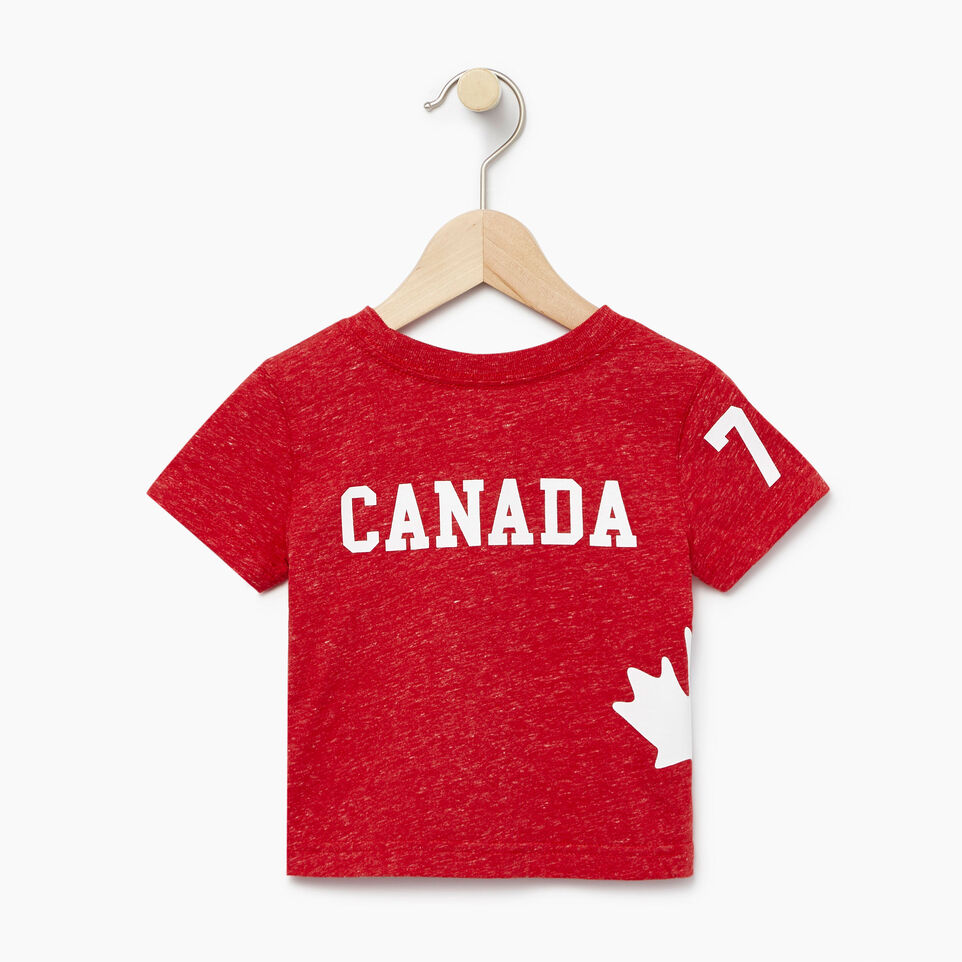 Roots-Kids New Arrivals-Baby Bedford T-shirt-Sage Red Mix-B