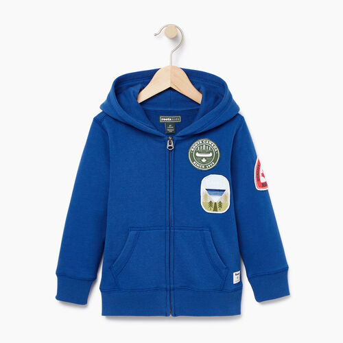 Roots-Kids Toddler Boys-Toddler Patches Full Zip Hoody-Active Blue-A