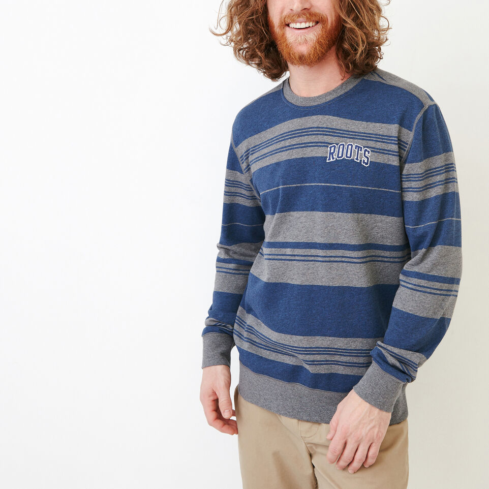 Roots-undefined-Rugby Stripe Crew Sweatshirt-undefined-A