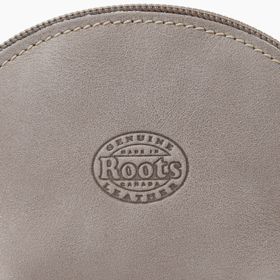 Roots-Leather Small Leather Goods-Small Euro Pouch-Sterling Grey-C