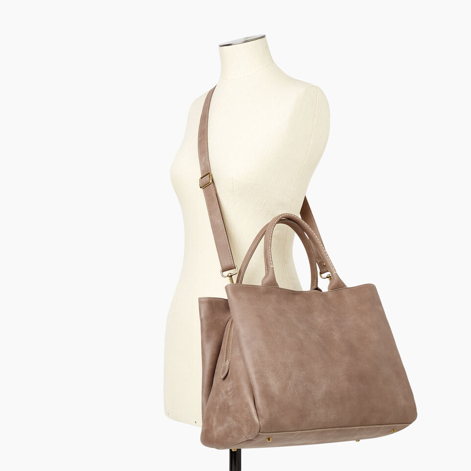 Roots-Leather Our Favourite New Arrivals-Large Mont Royal Bag-Fawn-B