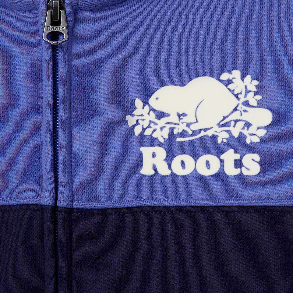 Roots-Clearance Kids-Girls Colour Block Full Zip Hoody-Violet Storm-D