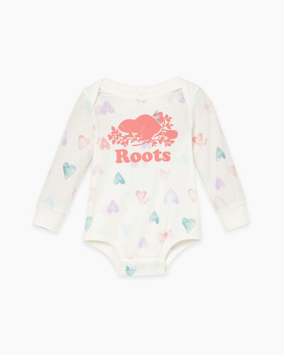 Roots-Kids Baby-Baby Love Roots Bodysuit-Egret-A