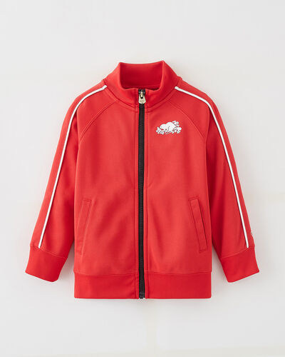 Roots-Kids Tops-Toddler Remix Track Jacket-Racing Red-A