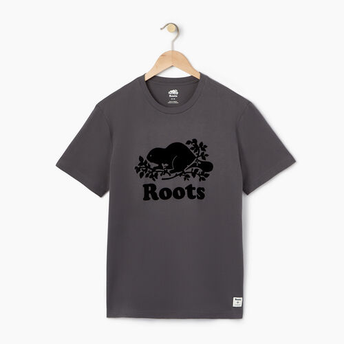 Roots-Men Tops-Mens Cooper Beaver T-shirt-Iron Gate-A