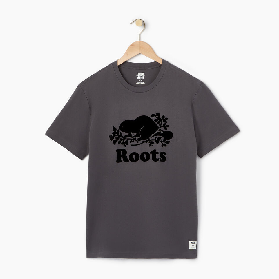 Roots-New For August Men-Mens Cooper Beaver T-shirt-Iron Gate-A