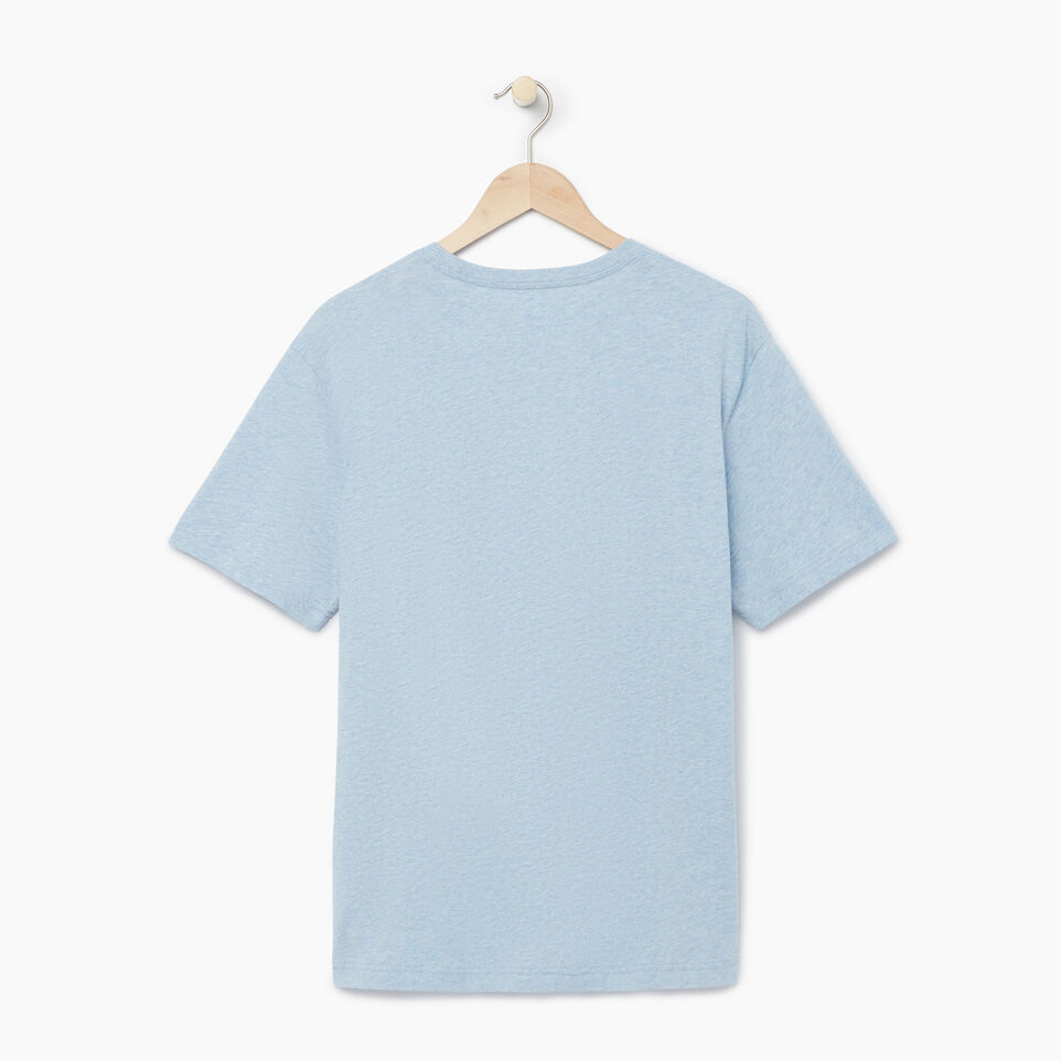 Roots-Men Our Favourite New Arrivals-Mens Cooper T-shirt-Baby Blue Pepper-B