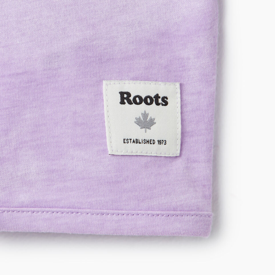 Roots-Kids New Arrivals-Girls Tie T-shirt-African Violet-E