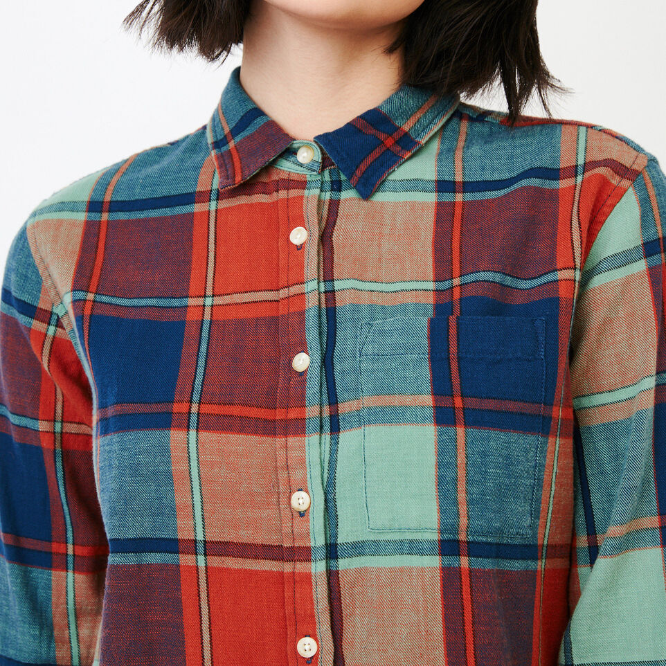 Roots-Clearance Women-All Seasons Relaxed Shirt-Jaffa Orange-E