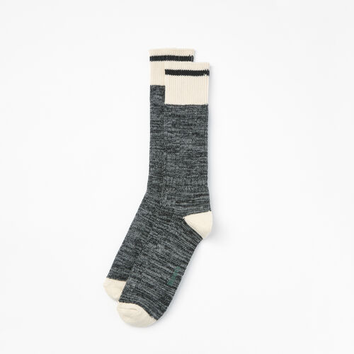 Roots-Women Socks-Womens Cotton Cabin Sock 2 Pack-Black Mix-A