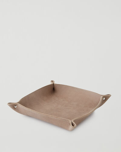 Roots-Leather Leather Accessories-Large Leather Tray Tribe-Sand-A