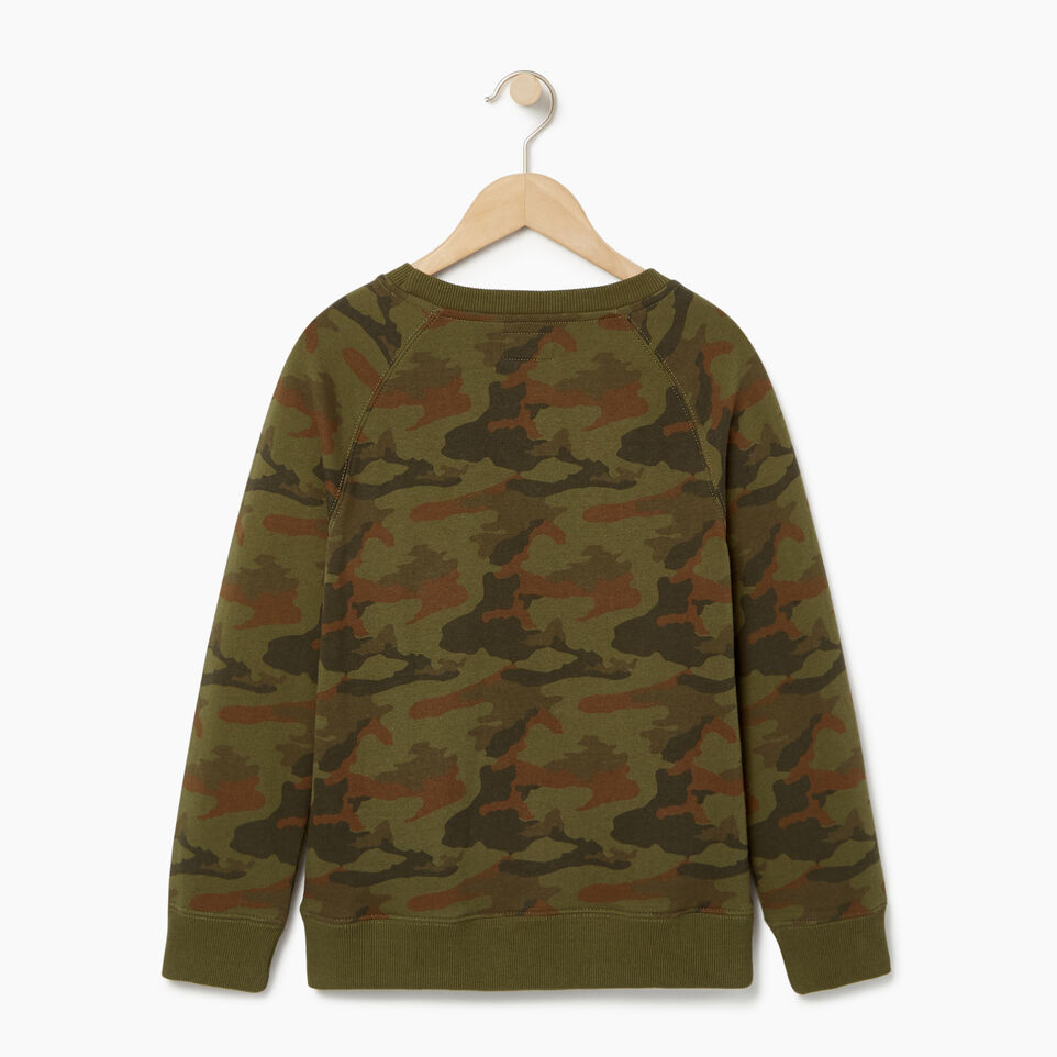Roots-Kids Our Favourite New Arrivals-Boys Camo Sweatshirt-Winter Moss Green-B