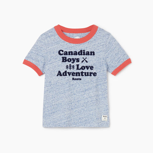 Roots-Kids Tops-Toddler Boys Love Adventure T-shirt-True Navy Mix-A