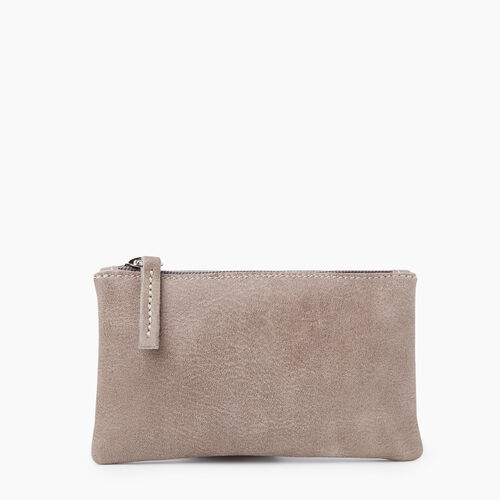 Roots-Women Leather-Medium Zip Pouch Tribe-Fawn-A