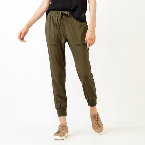 Roots-Women Bottoms-Essential Jogger-Fatigue-A