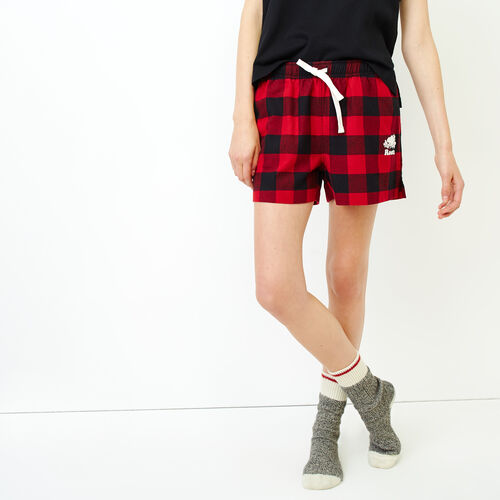 Roots-Women Our Favourite New Arrivals-Inglenook Lounge Short-Lodge Red-A