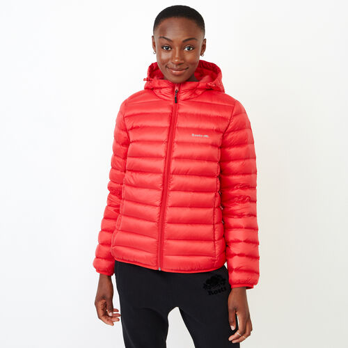 Roots-Women Outerwear-Roots Packable Down Jacket-Lollipop-A