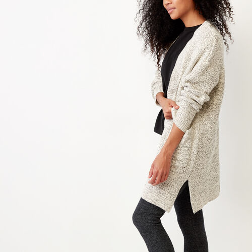 Roots-Women Sweaters & Cardigans-Snowy Fox Cardigan-Snowy Fox-A