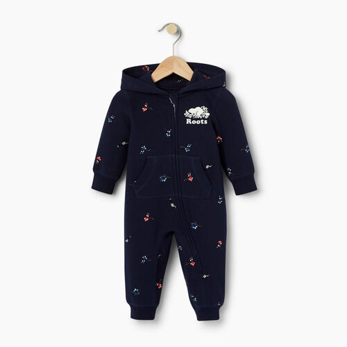 Roots-Kids Our Favourite New Arrivals-Baby Hockey AOP Romper-Cascade Blue-A