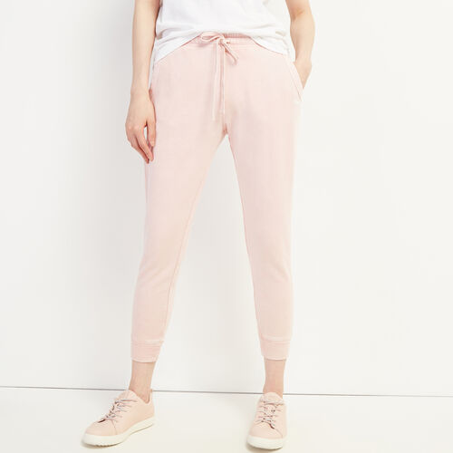 Roots-Women Bottoms-Eramosa Sweatpant-Peachskin-A
