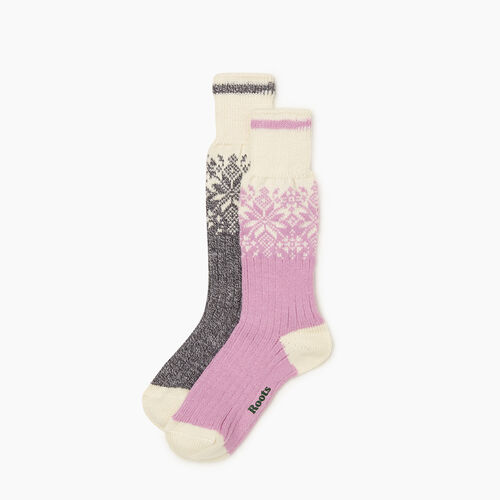 Roots-New For October The Roots Cabin Collection™-Roots Elsa Cabin Sock 2 Pack-Orchid Mix-A