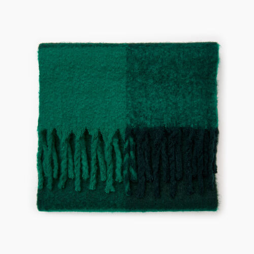 Roots-Women Categories-Park Plaid Fluff Scarf-Green-A