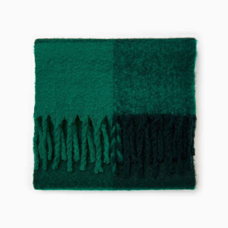 Roots-New For December Today Only: 40% Off Park Plaid Collection-Park Plaid Fluff Scarf-Green-A