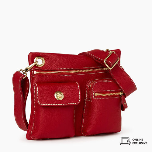 Roots-Leather New Arrivals-Village Bag Parisian-Heritage Red-A