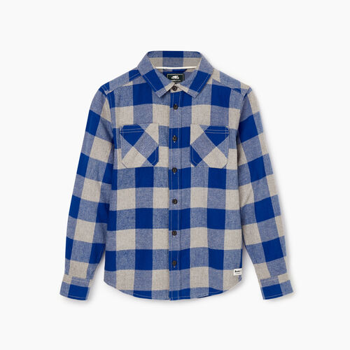 Roots-Kids Our Favourite New Arrivals-Boys Park Plaid Shirt-Active Blue-A