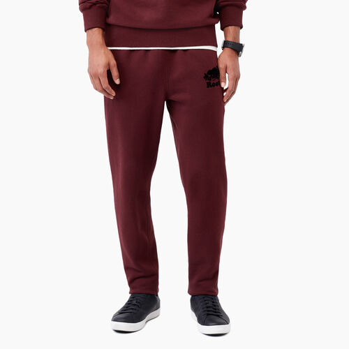 Roots-Men Sweats-Park Slim Open Bottom Sweatpant-Crimson-A