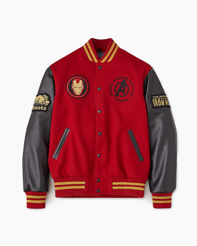 Roots-New For This Month Shop By Apparel-Avengers Iron Man Award Jacket-Black/red-A