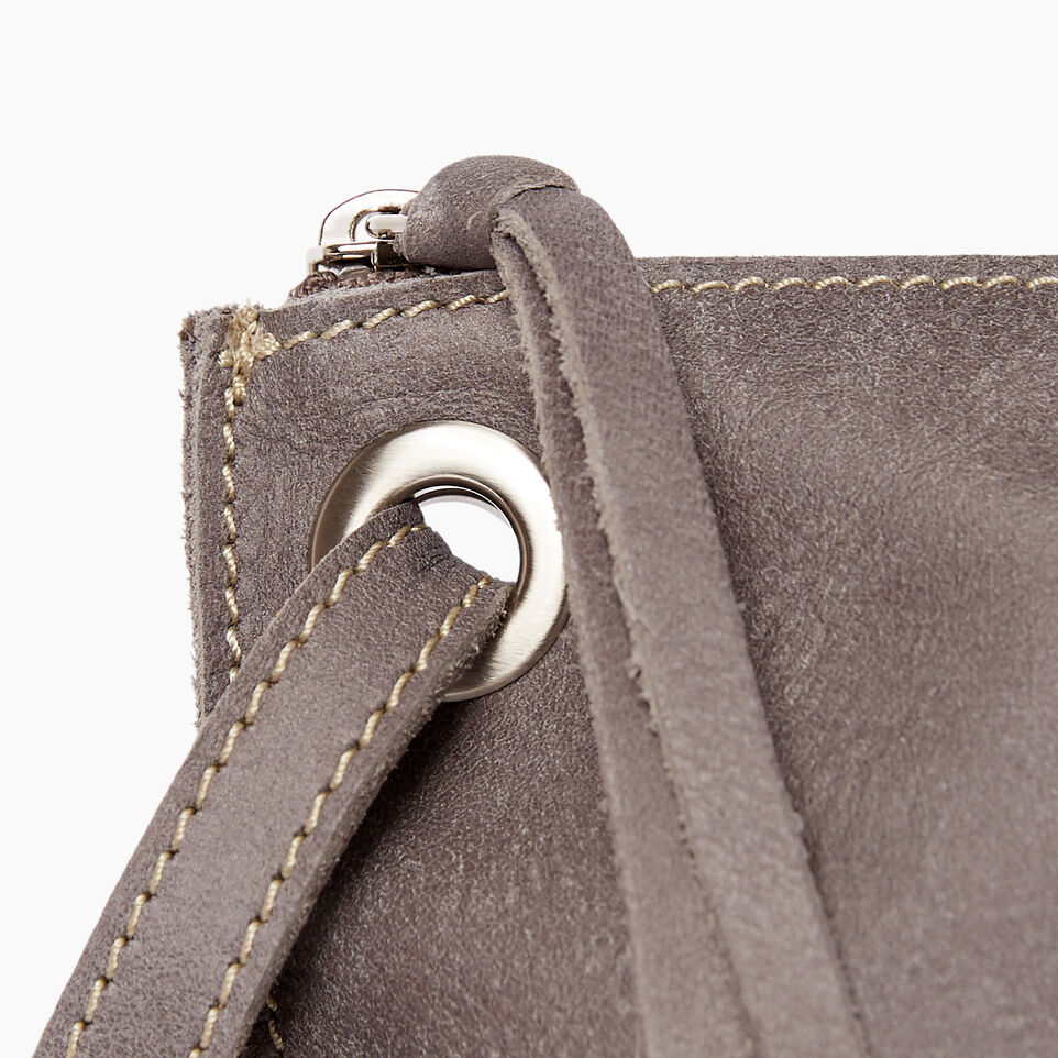 Roots-Leather  Handcrafted By Us Handbags-Festival Bag Tribe-Charcoal-D