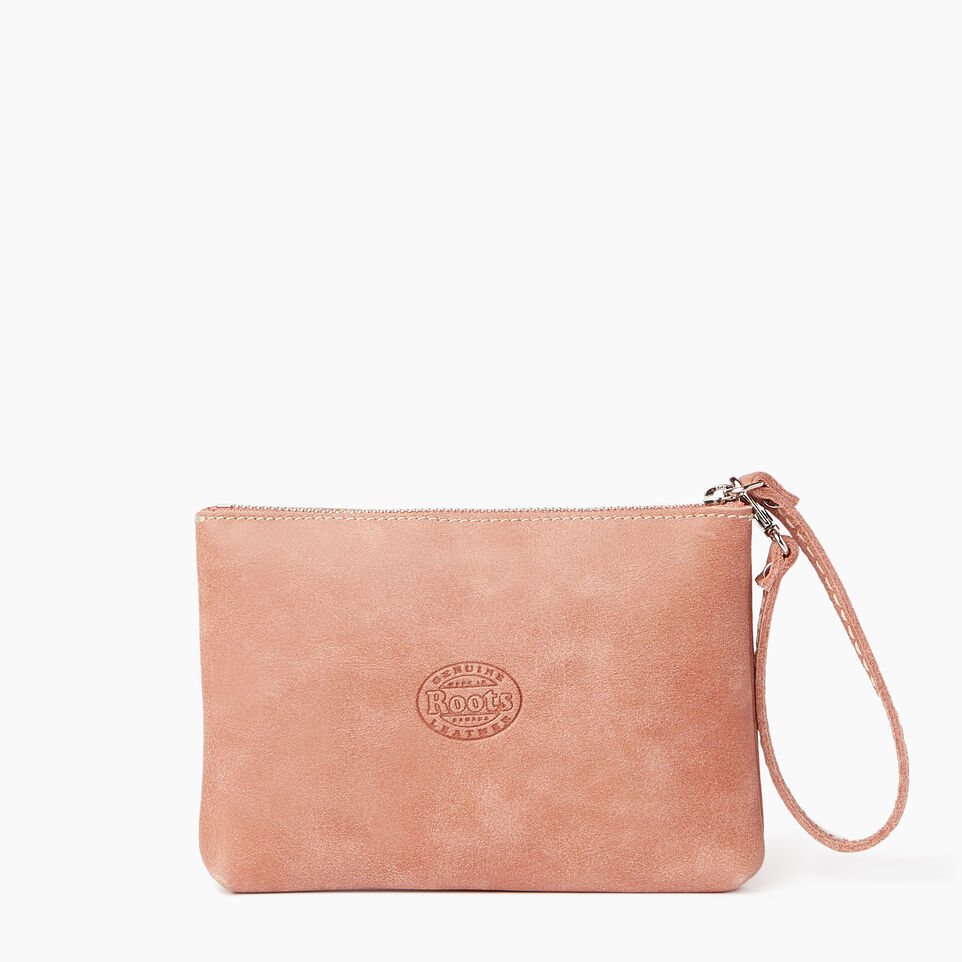 Roots-Leather Our Favourite New Arrivals-Riverdale Pouch-Canyon Rose-C