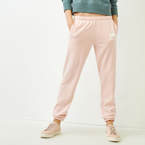 Roots-Women Sweatpants-Original Sweatpant-Silver Pink Pepper-A