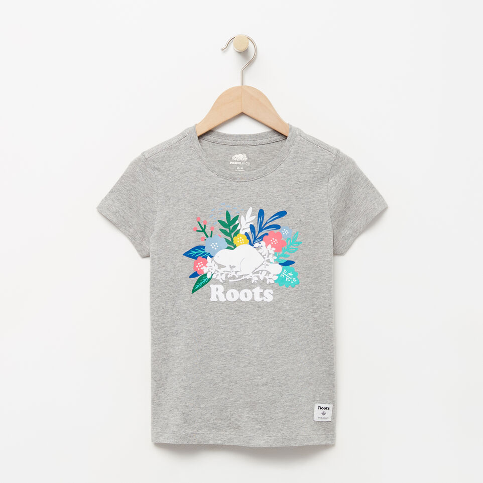 Roots-Girls Floral Beaver T-shirt