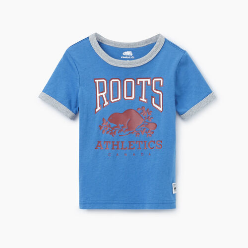 Roots-Kids Our Favourite New Arrivals-Toddler RBA Ringer T-shirt-Federal Blue-A