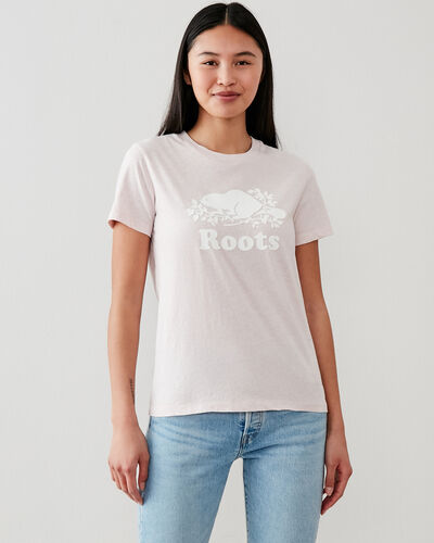 Roots-Women Bestsellers-Womens Cooper Beaver T-shirt-Pale Mauve Mix-A