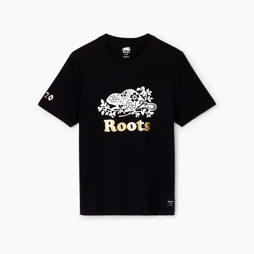 Roots-Men Tops-Mens Lunar New Year Slim T-Shirt-Black-A