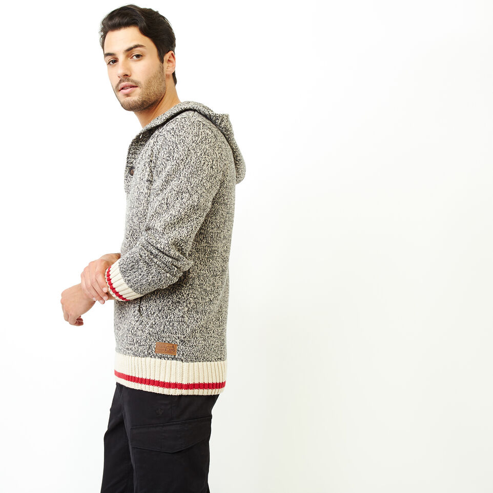 Roots-Men Our Favourite New Arrivals-Cotton Cabin Anorak Sweater-Speckle-C