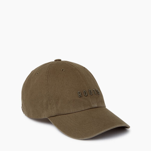 Roots-Women Accessories-Roots Classic Baseball Cap-Fatigue-A