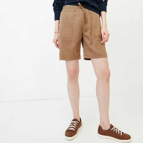 Roots-Women Categories-Essential Short-British Khaki-A