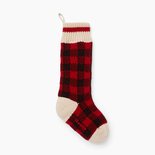 Roots-New For November General Store-Buffalo Check Stocking-Lodge Red-A