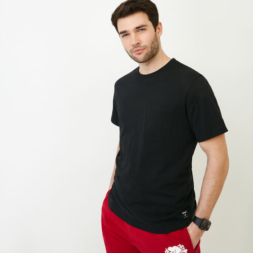 Roots-Men Our Favourite New Arrivals-Essential Pocket T-shirt-Black-A