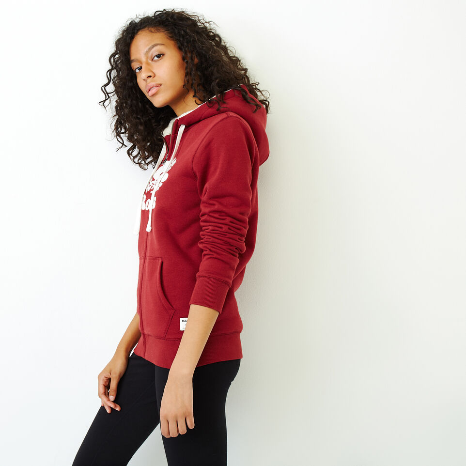 Roots-Women Our Favourite New Arrivals-Sherpa-lined Hoody-Ruby Wine-C