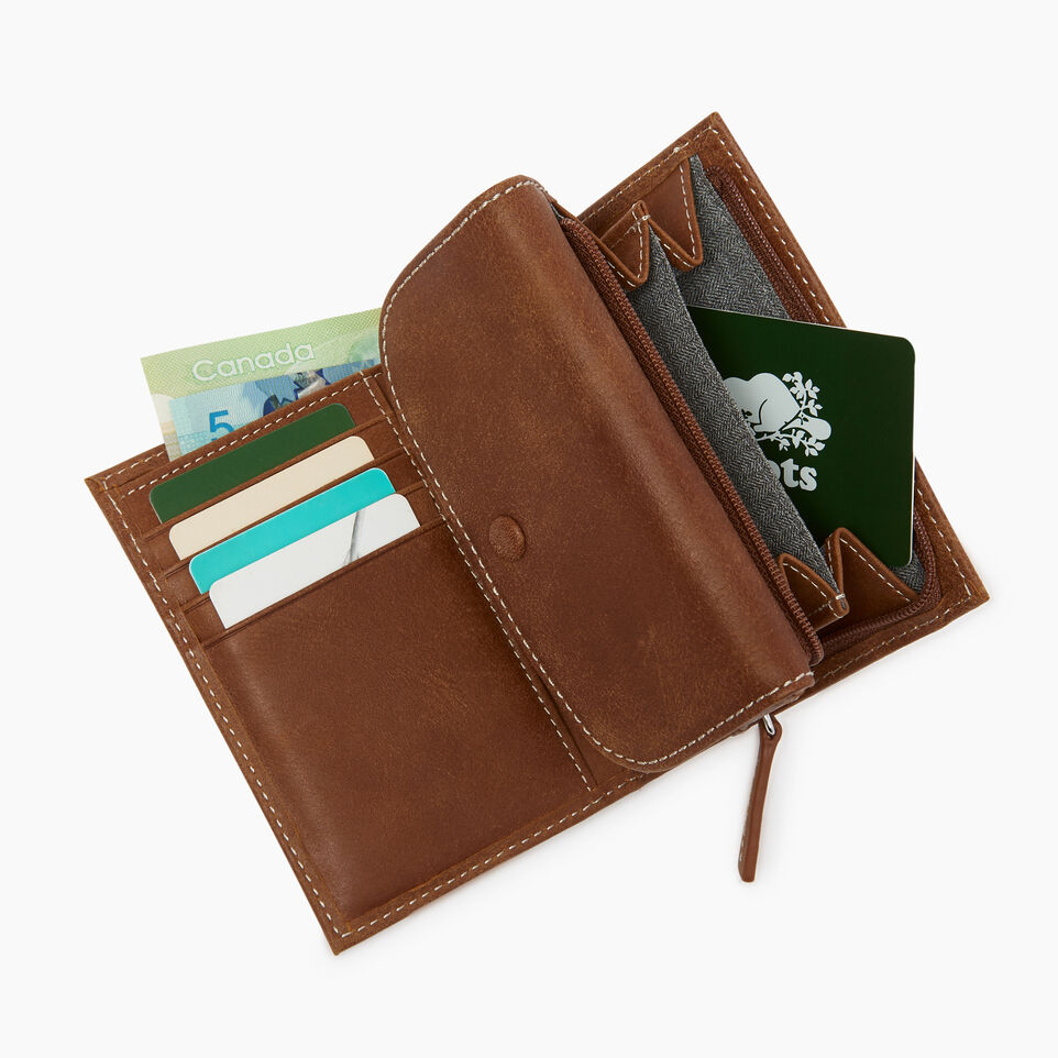 Roots-Leather Our Favourite New Arrivals-Riverdale Wallet-Natural-C
