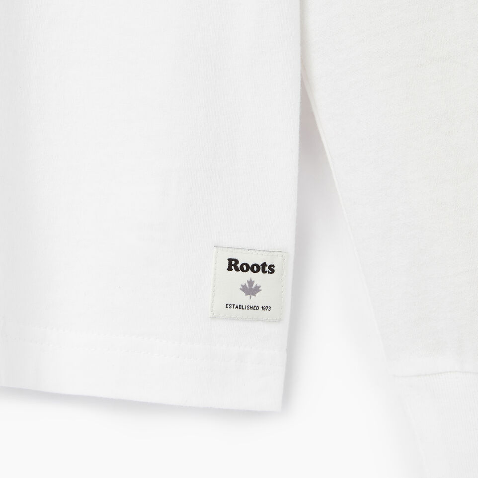 Roots-Men Our Favourite New Arrivals-Mens Mountain Shades Long Sleeve  T-shirt-White-C