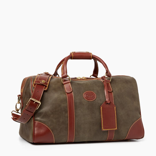 Roots-Leather  Handcrafted By Us Weekender Bags-Small Banff Bag Tribe-Pine-A