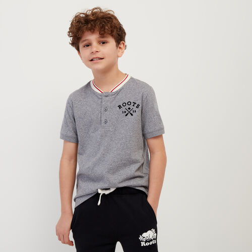 Roots-Kids New Arrivals-Boys Cabin Henley-Light Salt & Pepper-A