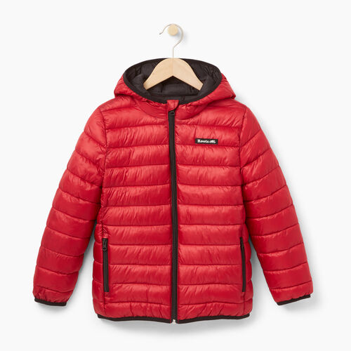 Roots-Kids Categories-Boys Roots Puffer Jacket-Haute Red-A